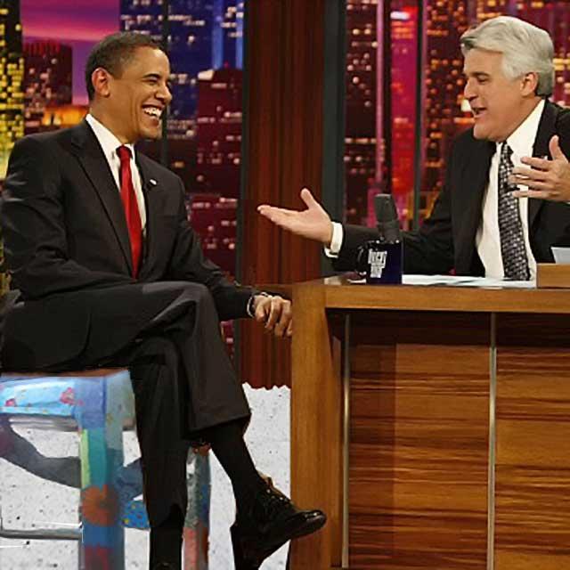 President Obama in der Talkshow von Jack Leno
